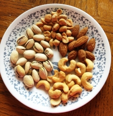 Your nuts on a plate