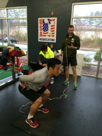 E-land player'd fitness testing.