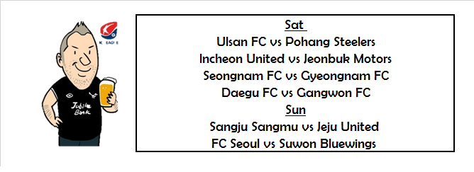 K-League One 2019 Week 16 – Previews & Predictions | The K-League Kilt